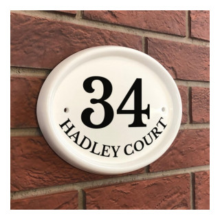 Harlow House Number house sign