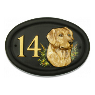 Golden Retreiver Head Dog house sign