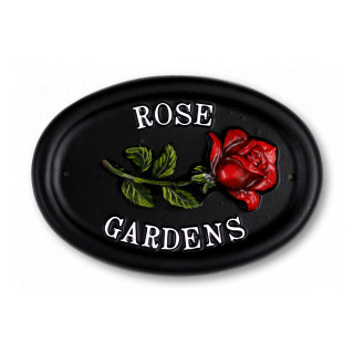 Rose Single Flower House Sign house sign