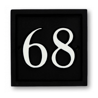 Square House Number house sign