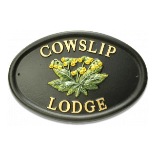 Cowslip Flower House Sign house sign