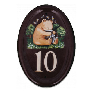 Pooh Bear Sitting Miscellaneous House Sign house sign