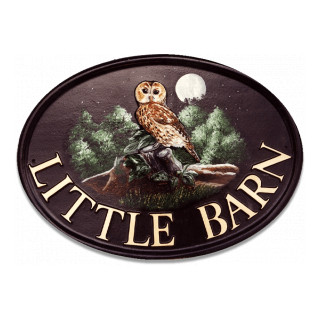 Owl Tawny Large Bird House Sign house sign