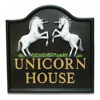 Unicorns Miscellaneous House Sign house sign