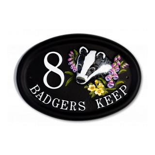 Badger Head Animal House Sign house sign