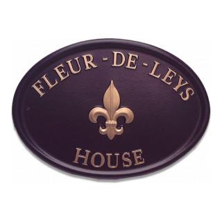 Fleur De Leys Miscellaneous House Sign house sign