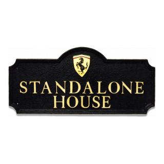 Car Ferrari Logo Miscellaneous House Sign house sign
