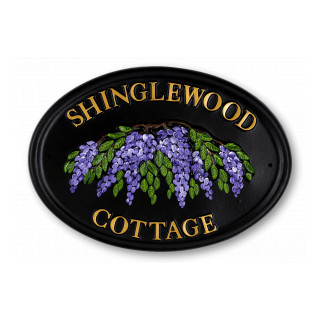 Wisteria Large Flower House Sign house sign