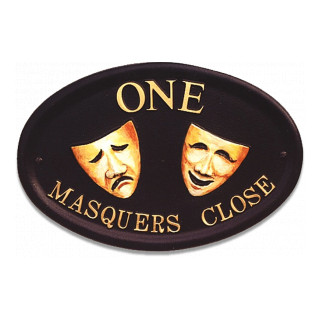 Theatre Masks Miscellaneous House Sign house sign