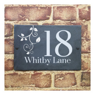 Whitby Slate House Sign house sign