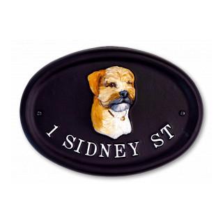 Border Terrier Dog House Sign house sign