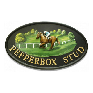 Race Horse Horse House Sign house sign