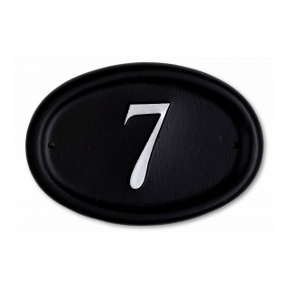 Oval House Number house sign