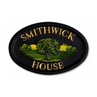 Oak Tree House Sign house sign