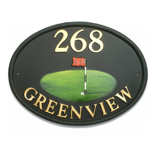 Golf Flag Miscellaneous House Sign house sign