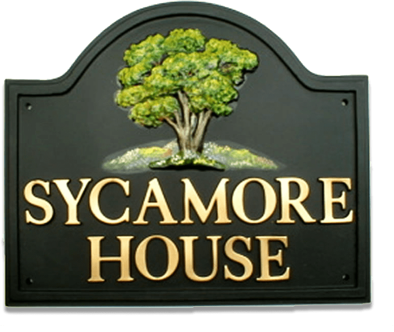 Sycamore house sign