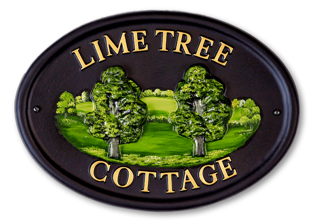 Lime house sign
