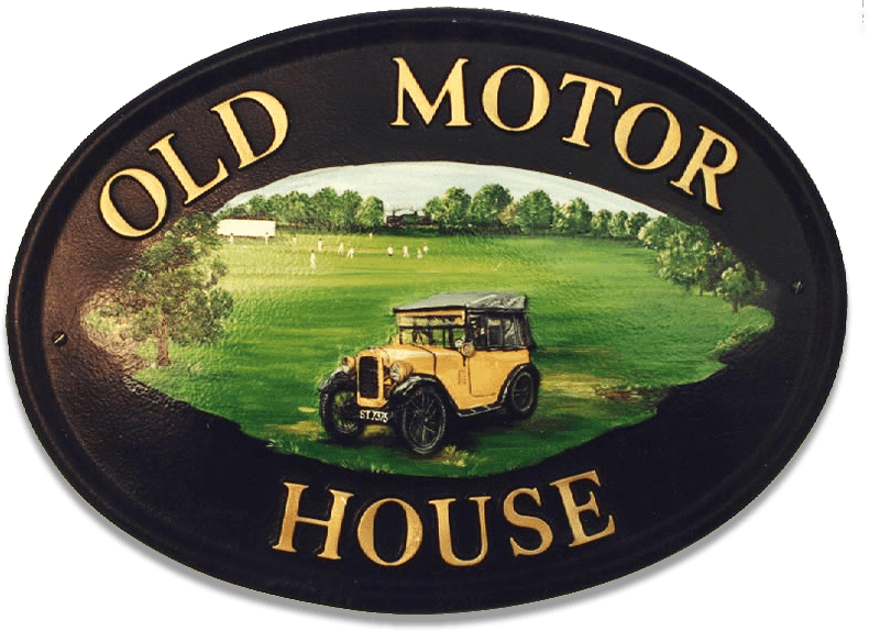Car Austin Chummy house sign