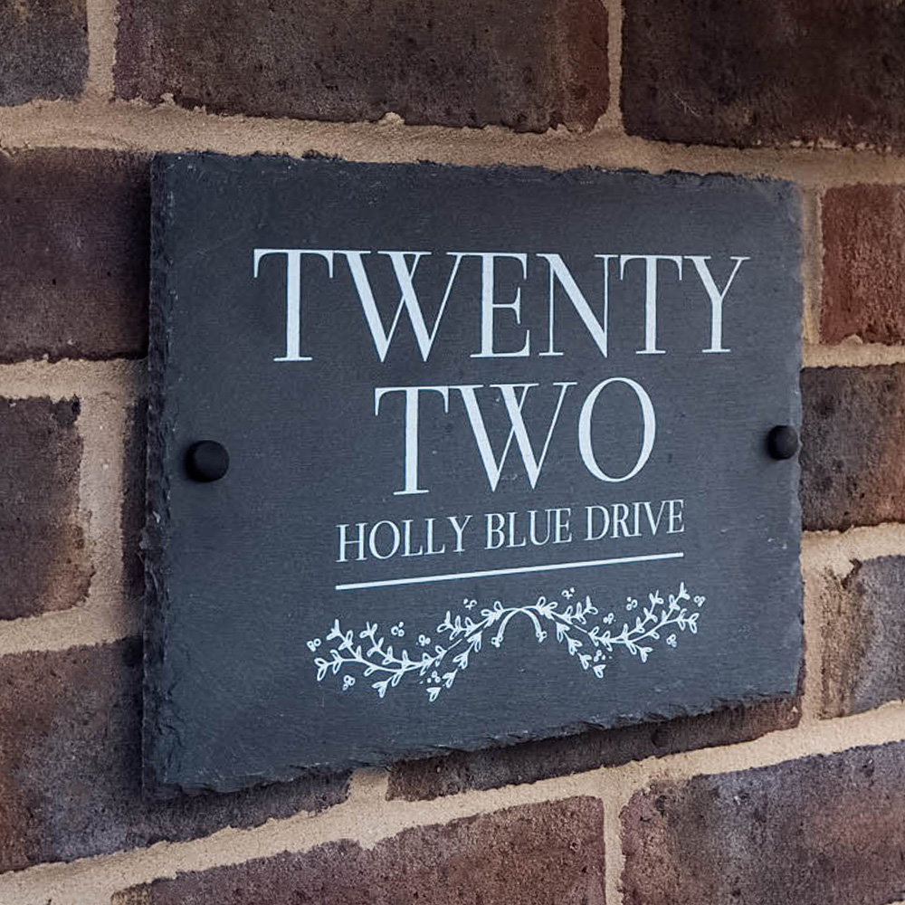 Oxford slate house sign