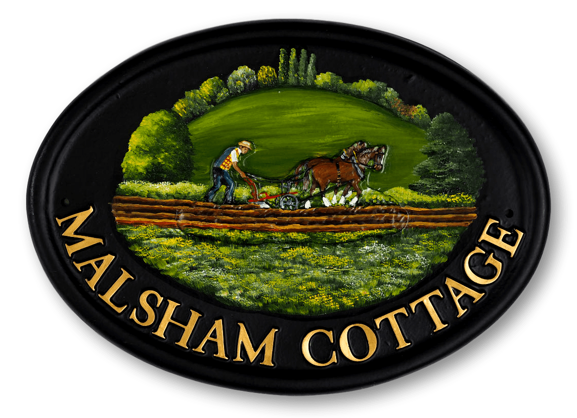 Horse & Plough Small house sign